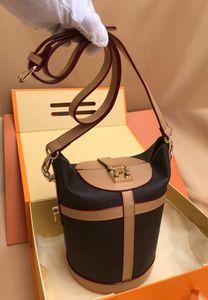 Grado mujeres Strim de lujo del diseñador bolsa de lona del monograma de cuero genuino oxidado recubierto de alta calidad de señora Crossbody del bolso monedero de la taleguilla