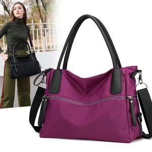 Large-capacity lady's one-shoulder handbag waterproof nylon cloth bag