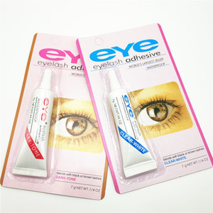 Eye Lash Glue Dark White Makeup Adhesive Waterproof False Eyelashes Adhesives Glue with packing Practical Eyelash Glue free