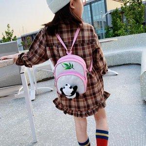 Yeni Moda Sırt Narin Doku Karikatür Pullu Sırt Çantası Sevimli Panda Çocuk Omuz Crossbody Çanta Küçük Sırt Çantası