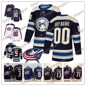 콜럼버스 블루 재킷 NEW BRAND 사용자 정의 번호 번호 남성 여성 청소년 2019 Blue Third White Navy Artemi Panarin Hockey Jersey