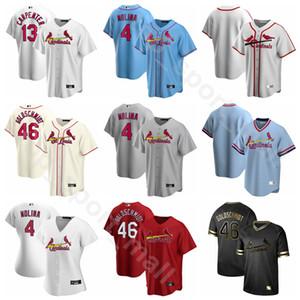 2020 Homem de beisebol da mulher Crianças 22 Jack Flaherty Jersey 39 Milhas Mikolas 43 Dakota Hudson 50 Adam Wainwright 13 Matt Carpenter Cooperstown