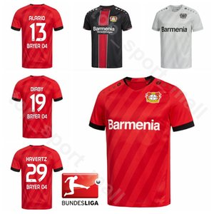 2019 2020 04 Bayer Leverkusen Calcio 29 Kai Havertz Jersey 13 Lucas Alario 8 Lars Bender 19 Moussa Diaby Bellarabi Football Shirt Kit