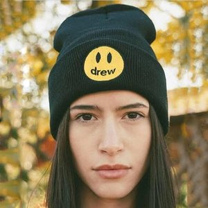 19FW DREW HOUSE BEANIE HAT Cold Cap Knitted Hat Cap Street Travel Fishing Casual Autumn Winter Hat Warm Outdoor Sport Hats HFYMMZ021