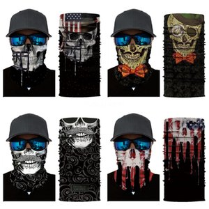 Wholesale 600 Pcs Lot Outdoor Cycling Running Hiking Magic Headband Sport Turbans Cycling Skull Scarf Scarves Literary#355