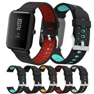20mm Armband für Huami Amazfit Bip Youth weiches Silikonarmband Ersatzband für Huami Amazfit Bip Youth Lite Armband für Galaxy 42mm
