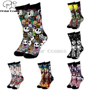 Plstar Cosmos pesadilla antes de Navidad Jack Skellington calcetines calcetines de dibujos animados en 3D de alta Hombres Mujeres alta calidad de Halloween-5