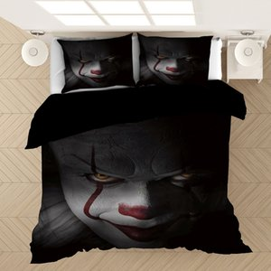 Stephen King E 3D Federa Copripiumini Horror Movie Clown Serie Consolatore letto di Biancheria Lenzuola (NO Sheet)