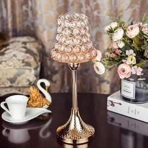 Crystal Candle Holders Stand Metal Candlesticks Set Wedding Christmas Halloween Holiday Decoration for Home Table Centerpiece