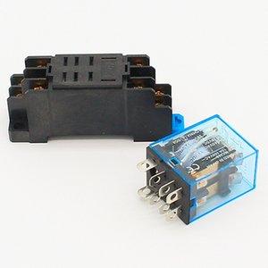 새로운 DC12V DC24V AC110V AC240V 전원 릴레이 HH52P-L 8 개 핀 소켓베이스 쉬운 기타 정원 용품