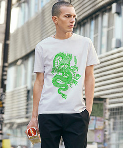 ZSIIBO дизайнер 2020 мужские футболки Китайский дракон печати хлопка майка улица стиль хип-хоп верхний тройник для мужчин и женщин DYDHGMC198