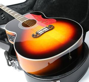 커스텀 샵 43 인치 점보 벚꽃 햇살 J200 일렉트릭 어쿠스틱 기타 레드 와인 거북이 픽가드, 그로버 튜너, 복사 피시 픽업