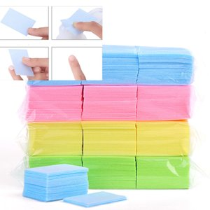 Hot Colorful 2000 Pcs Lint-Free Wipes Napkins Nail Polish Remover Gel Nail Wipes Nail Cutton Pads Manicure Pedicure Gel Tools