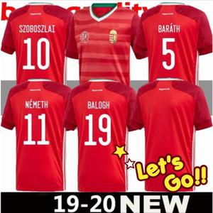 2020 2021 maison maillot de football rouge Hongrie 20 21 équipe nationale Dominik Szoboszlai Willi Orban Tamás Kádár football chemises uniformes