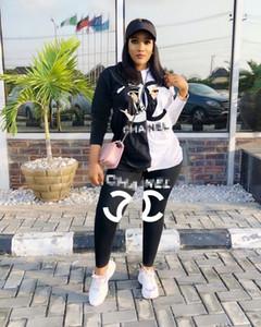 Frauen Sport Anzug Hoodies Hosen 2 Stück Frauen-Set Outfit aushöhlen Solid Color Womens Sweat Anzüge sweatsuits Kleidung Kleidung Y5
