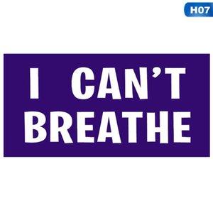 No puedo respirar PVC etiqueta auto-adhesivo etiqueta engomada del coche creativo adecuados para la ropa Coches Portátiles pared decorativos pegatinas GGA3451-5