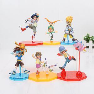 11cm Digitale Digimon Abbildung Ishida Yamato Gabumon Yagami Taichi Sora Agumon Pvc Action Figure Digimon Colle Modell Spielzeug Y190604