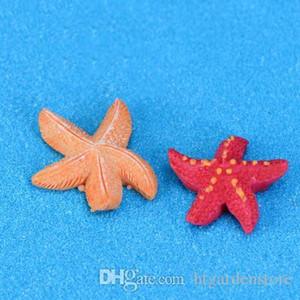 2-2.5CM Starfish Miniatures Cute Fairy Garden Decoration Mini Micro Landscapes DIY Resin Craft Pentagonal starfish
