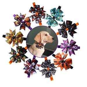30 PCS per animali Accessori festa di Halloween Pet Dog cravatte a farfalla regolabile cravatta Puppy Dog Collar Papillon Dog Cat Bowties prodotto