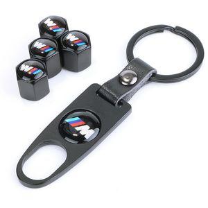 BMW سيارة الاطارات فوهة كاب مضاد للسرقة الشخصية صمام الغلاف تعديل + وجع سلسلة المفاتيح