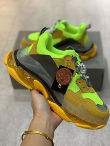 Triple S Sneaker Fashion Vintage Kanye West Old Grandpa Trainers Mens Womens Casual Shoes Size 35-45k01