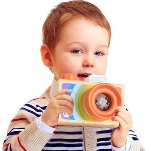 레인보우 어린이 나무 시뮬레이션 카메라 만화경 크리스마스 키즈 여행 장난감 아기 안전 천연 목재 생일 선물 장식 키즈 룸