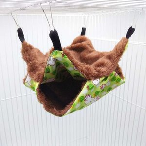 Home & Garden Pet Hammock Double-layer Plush Soft Winter Warm Hanging Nest Sleeping Bed Small Pets Hamster Squirrel Chinchilla House