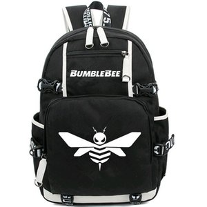 Bumblebee day pack Mochila de impressão fofa Bumble bee schoolbag Nice packsack Mochila de computador Saco de escola de esporte Fora mochila de porta