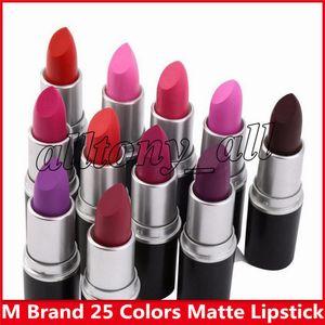 hot matte Rossetto M Makeup Lustre Retro Rossetto Frost Sexy Matte Rossetti 3g 25 colori rossetti con nome inglese
