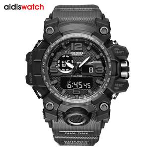 G tarzı Şok Saatler Erkekler Askeri Ordu Erkek İzle Reloj Led Dijital Spor Kol Erkek Hediye Analog Otomatik Saatler Erkek