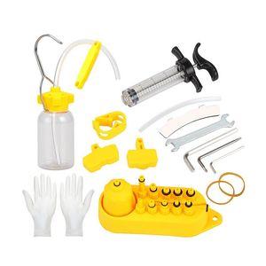 Frein à disque hydraulique vélo huile Purger Tool Kit Pour Margura SRAM, Tektro et série Bike Brake Repair Tool
