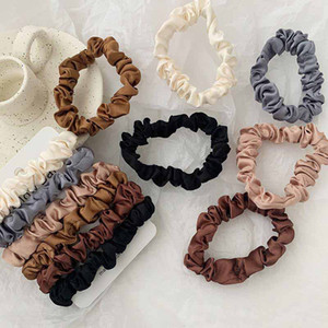 Scrunchie hairbands pelo corbata mujeres para accesorios para el cabello scrunchies satin stretchtail titulares hechos a mano regalo hiendedband