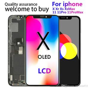 100٪ اختبار لوحات OLED عالية الجودة لجهاز iPhone X XS XR XSMAX 11 شاشة LCD شاشة تعمل باللمس محول الأرقام استبدال التجميع الكامل