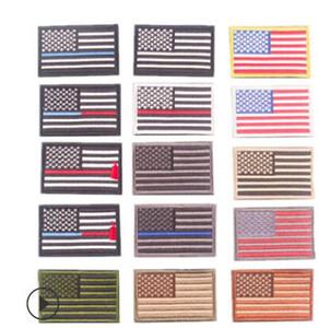 8 * 5CM İşlemeli Amerikan Bayrağı Yamalar Ordusu Rozet ABD Bayrağı Yama 3D Taktik Askeri ABD Yamalar Ulusal Bayrak Rozet