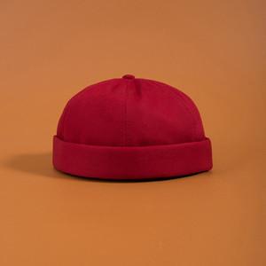 Fashion-brimless Skullies Cap Vintage urbano unico Via portatile Docker cappelli multiuso Cappello Miki Beanie cappelli firmati berretti uomini