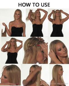 Popüler Yeni tip çevir İnsan Saç Uzantıları 100g / Adet Brezilyalı düz Halo saç # 1 # 1B 2. 4. 8., DHL ücretsiz