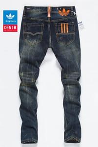 Afligido dos homens Rasgado Jeans Skinny Designer de Moda Jeans Masculinos Slim Motocicleta Moto Motociclista Causal Mens Denim Pants Hip Hop Men Jeans