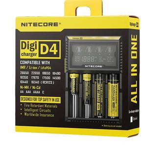 100 % 원래 Nitecore D4 범용 충전기 18650 16340 26650 14500 22650 18490 18350 배터리 Nitecore LCD 디스플레이 배터리 충전기