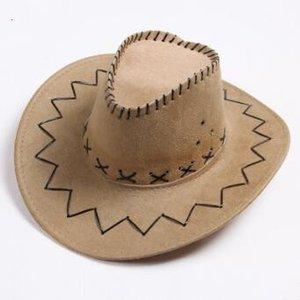 Vaquero occidental al aire libre de verano Turismo de verano Caps Cowgirl Knight Hats Prairie Sun Cavalier Mongolia Visor Retro Hat A5115 Ancho Fiesta Sombreros Oferta