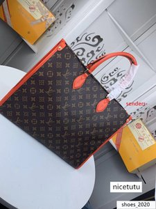 #7654 5A L Brand V Onthego Tote Bags Women Handbag Fashion Classic Clutch Top Handle Evening Bag Genuine Leather Large Capacity Shopping Bag