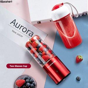 Kbxstart 330ml eléctrico portátil Licuadora Smoothie Juguera USB recargable multifunción mezclador de la fruta Exprimidor Extractor