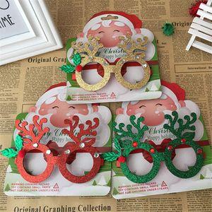 Creative Père Noël lunettes sans lentille mignon monture de lunettes de décoration de Noël cadre bénédiction de vacances jouets pour enfants cadeaux