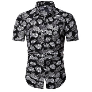 Uomini Stile Camicia Estate Beach Stampa Camicia hawaiana Uomini Casual Camicie maniche corte Hawaii Camisa Masculina Men