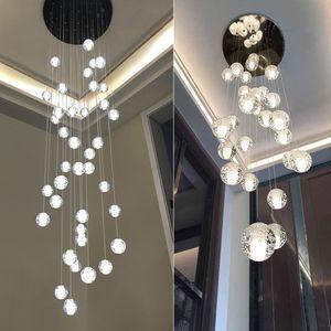 LED kristal cam top kolye meteor yağmur tavan ışık meteorik duş merdiven bar droplight avize aydınlatma AC110-240V led ışıkları