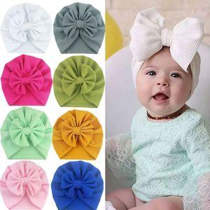 Sevimli Bebek Kızlar Bow Turban Şapka Bebek Çocuk Kafa Wrap Hicap Kafa Cap