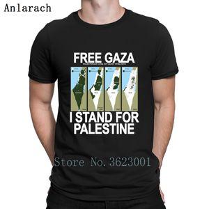 Free Safe Gaza Palestine T Shirt Vintage Customize Super Summer Top Designer Shirt Summer Style Trendy Short Sleeve Fit