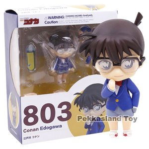 Nendoroid 803 Detective Conan Conan Edogawa Scala in Pvc 1/10 Action Figure Da Collezione Model Toy Doll 10cm Y19051804