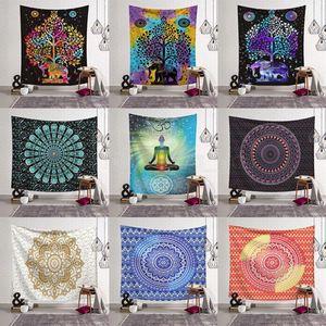 14styles Mandala 3D Baskı Battaniye Goblen INS Ev sanat Fit Duvar Goblen Moda Çocuk Plaj Havlusu ev dekorasyonu 130 * 150cm FFA2915