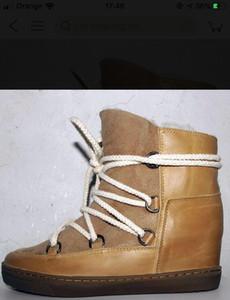 2Perfect Qualität Isabel Cluster Lederstiefel Paris Street Fashion Marant neuer echtes Leder-Schuhe Round Toe Stiefel Luxus-Designer-Schnürung