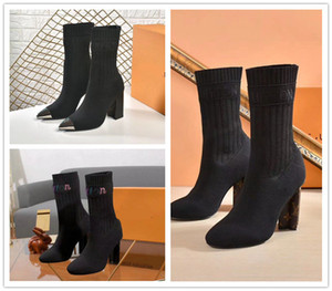 NW2 sexy calze stivali donna scarpe in autunno e in inverno stivali maglia elastiche stivali brevi dimensione Large